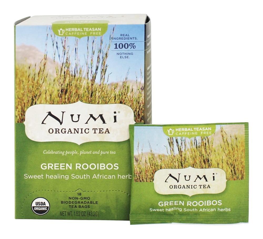 Numi Organic - Herbal Tea Green Rooibos - 18 Tea Bags