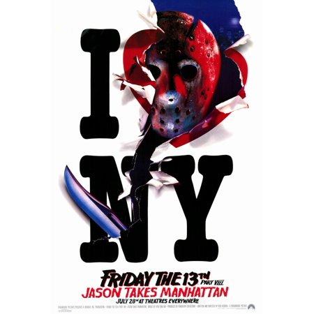 Friday the 13th Part 8 Jason Takes Manhattan (1989) 27x40 Movie Poster