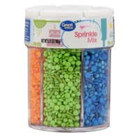 (2 Pack) Great Value Sprinkle Mix, 6-Cell, Red/Pink/Purple/Blue/Green/Orange, 6.35 oz