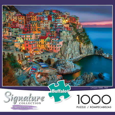 Buffalo Games - Signature Collection - Cinque Terre - 1000 Piece Jigsaw Puzzle - Halloween Games Puzzles Printable