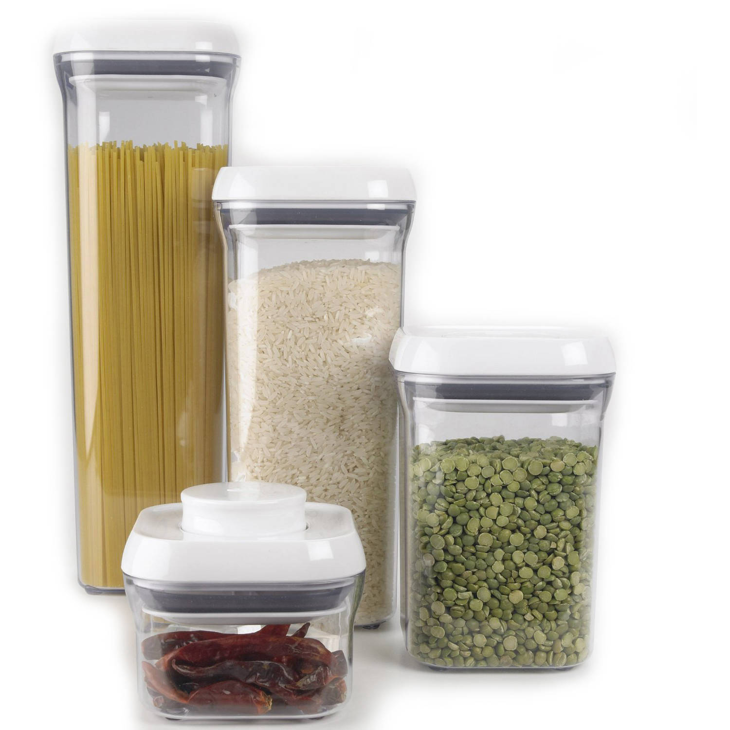 oxo 5piece good grips pop container set white image 2 of 5