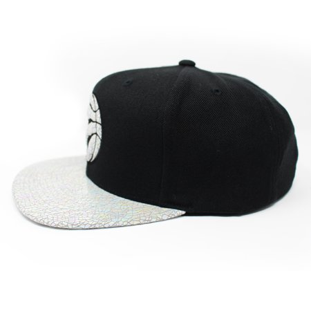 Mitchell and Ness Toronto Raptors Cracked Iridescent Black Snapback Hat - image 1 of 5