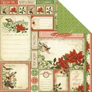 """Time To Flourish Double-Sided Cardstock 12""""X12""""-December Cut Apart"""