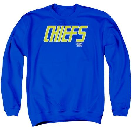 Slap Shot Hockey Comedy Sports Movie Chiefs Logo Adult Crewneck Sweatshirt