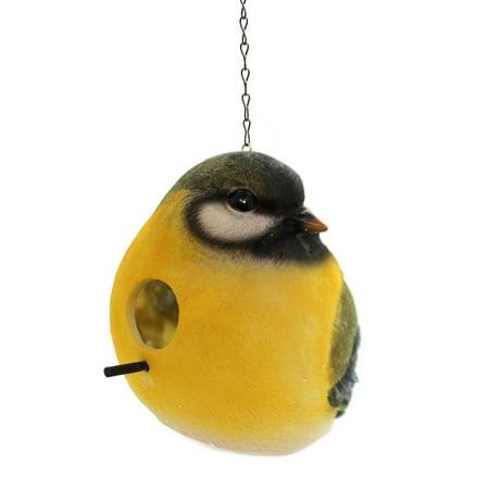 Home & Garden SPRING BIRDS BIRDHOUSE Polyresin Nest Summer P8014 Green