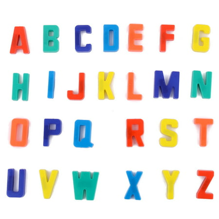 Unique Bargains 26 in 1 Plastic English Letters Whiteboard Fridge Refrigerator Magnet ()