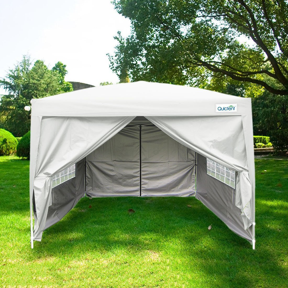Quictent Silvox Waterproof 8x8' EZ Pop Up Canopy Commercial Gazebo Party