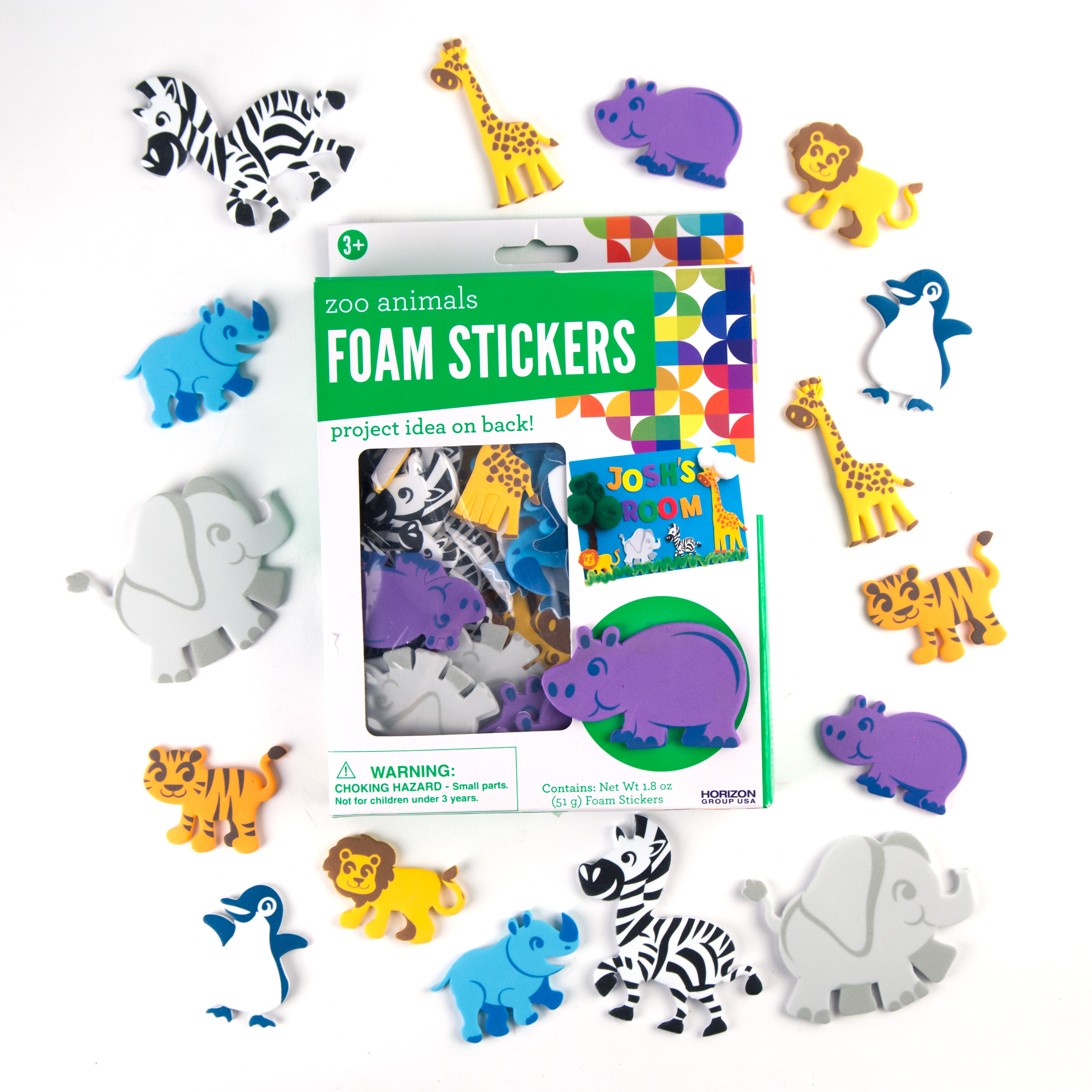 Zoo Animal Foam Stickers by Horizon Group USA