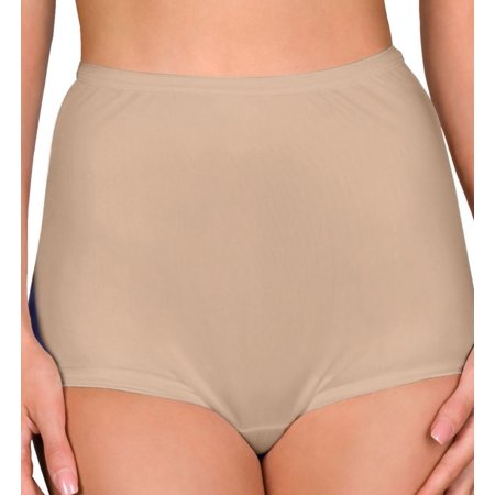 Women's Shadowline 17032 Hidden Elastic Nylon Classic Brief Panty