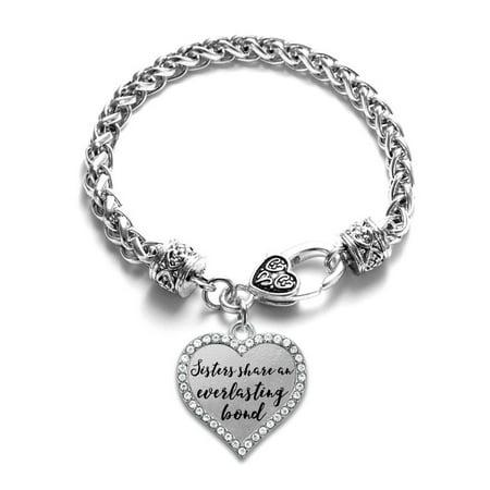 Sister Bond Open Heart Charm Bracelet (Sister Braclets)