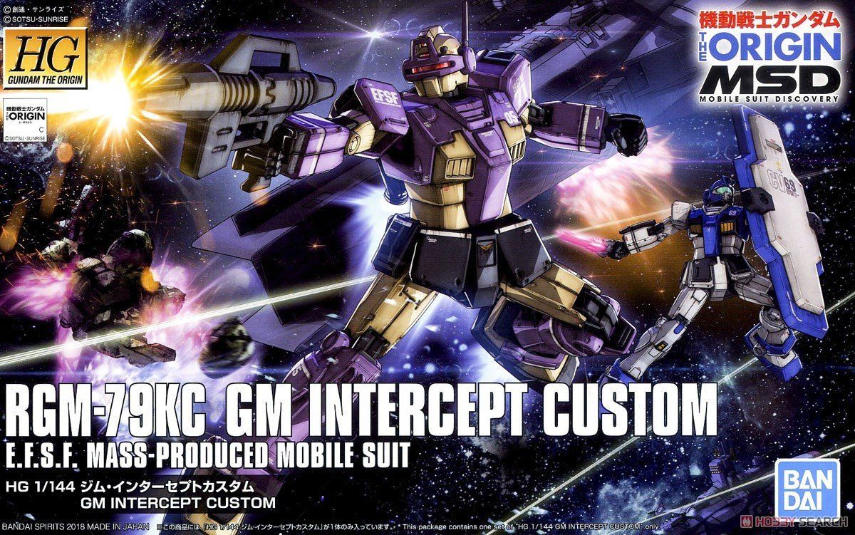Bandai Hobby Gundam The Origin GM Intercept Custom HG 1 144 Model Kit by Bandai Hobby
