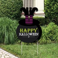 Happy Halloween - Party Decorations - Witch Party Welcome Yard Sign