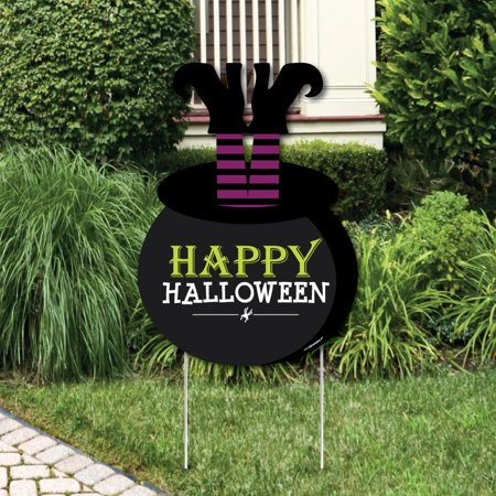 Happy Halloween - Party Decorations - Witch Party Welcome Yard Sign - Happy Halloween Yard Signs
