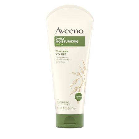 Aveeno Daily Moisturizing Lotion with Oat for Dry Skin, 8 fl. - Cream Body Souffle Lotion