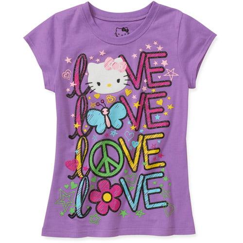 Hello Kitty Girls Short Sleeve Graphic Tee