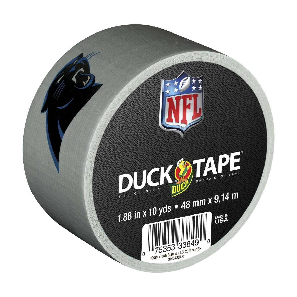 NFL Licensed Duck Tape Brand Duct Tape - Carolina Panthers, 1.88 in. x 10 yd.