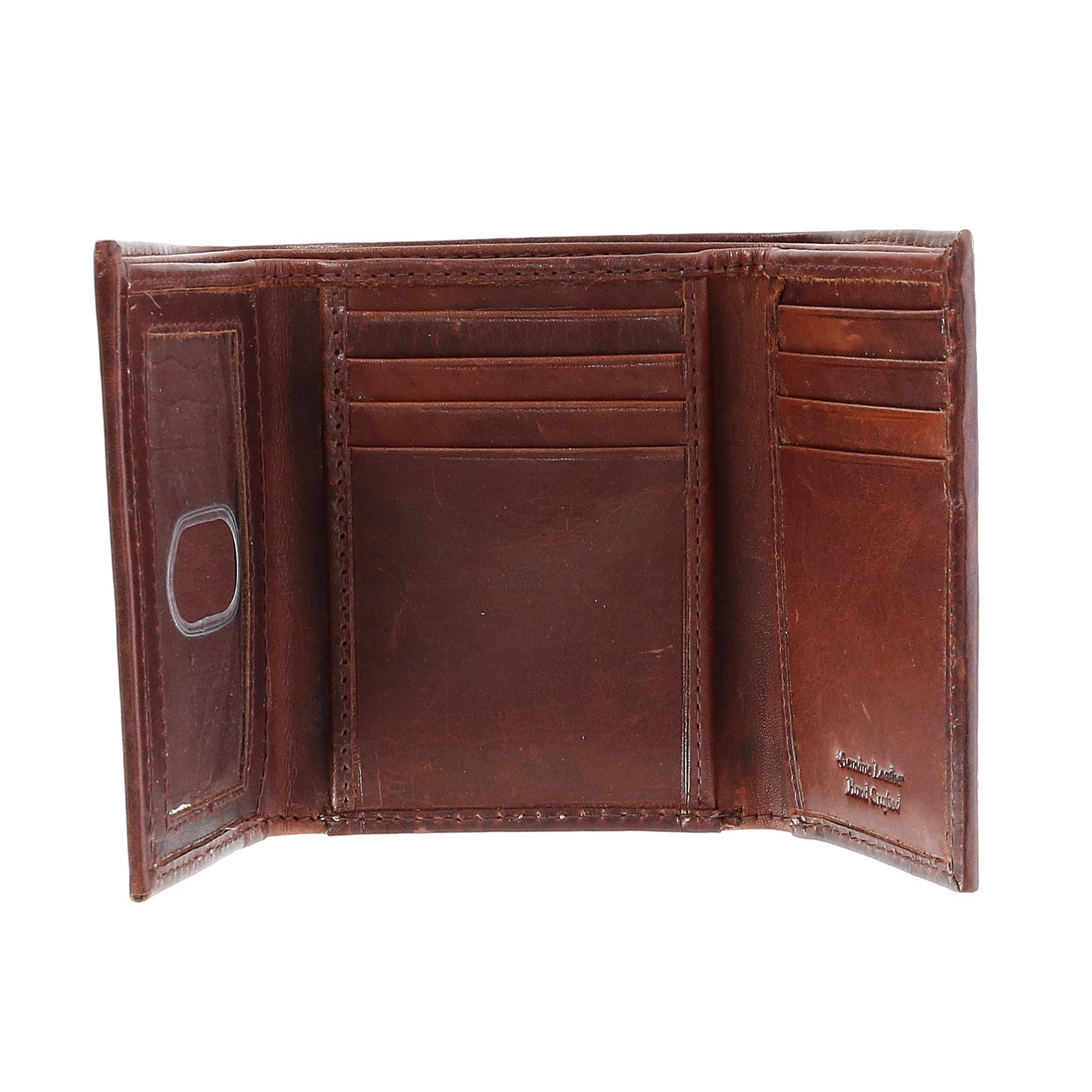 CTM Men's Oil Pull Up Leather Trifold Wallet - image 1 de 4