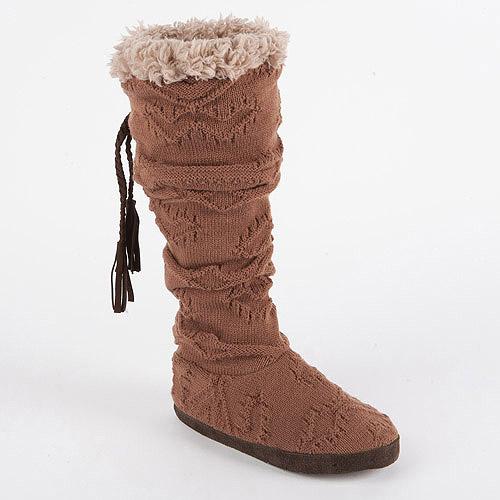 MUK LUKS Women's Winona Texture Cuff Slipper Boots