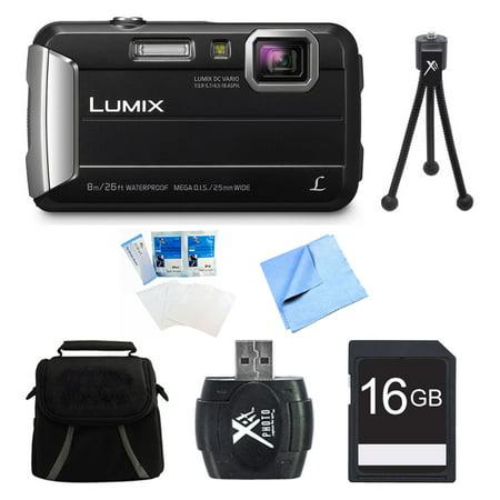 CHEAP Panasonic LUMIX DMC-TS30 Active Tough Black Digital Camera 16GB Bundle - Includes Camera, 16GB Card, Compact Bag, Card Reader, Mini Tripod, Screen Protectors, and Micro Fiber Cloth LIMITED