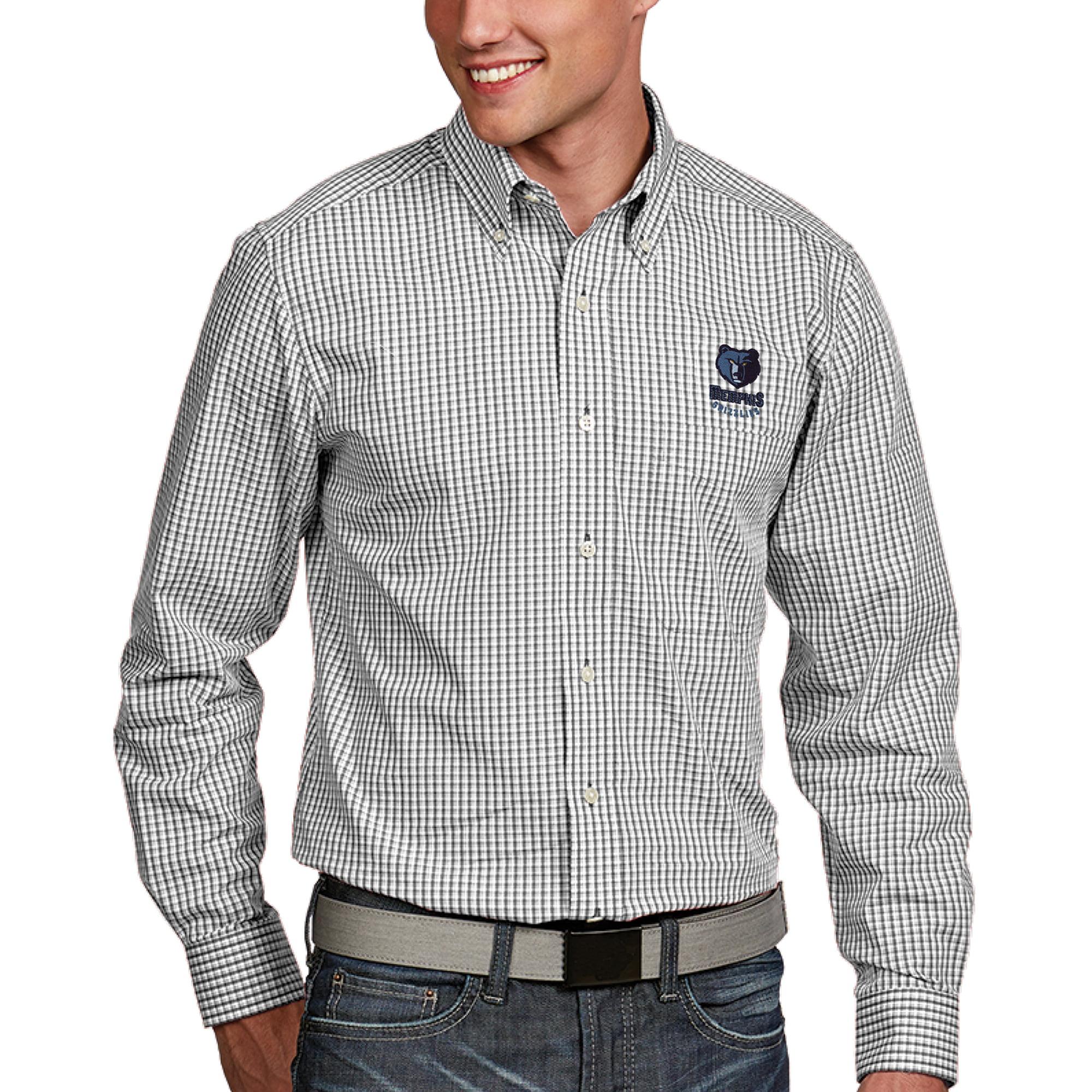 Memphis Grizzlies Antigua Associate Button-Down Long Sleeve Shirt - White