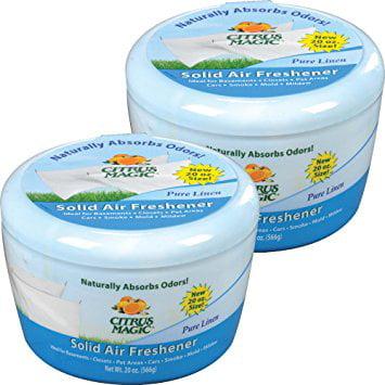 Citrus Magic Solid Air Freshener Pure Linen, Pack of 2, 20-Ounces -