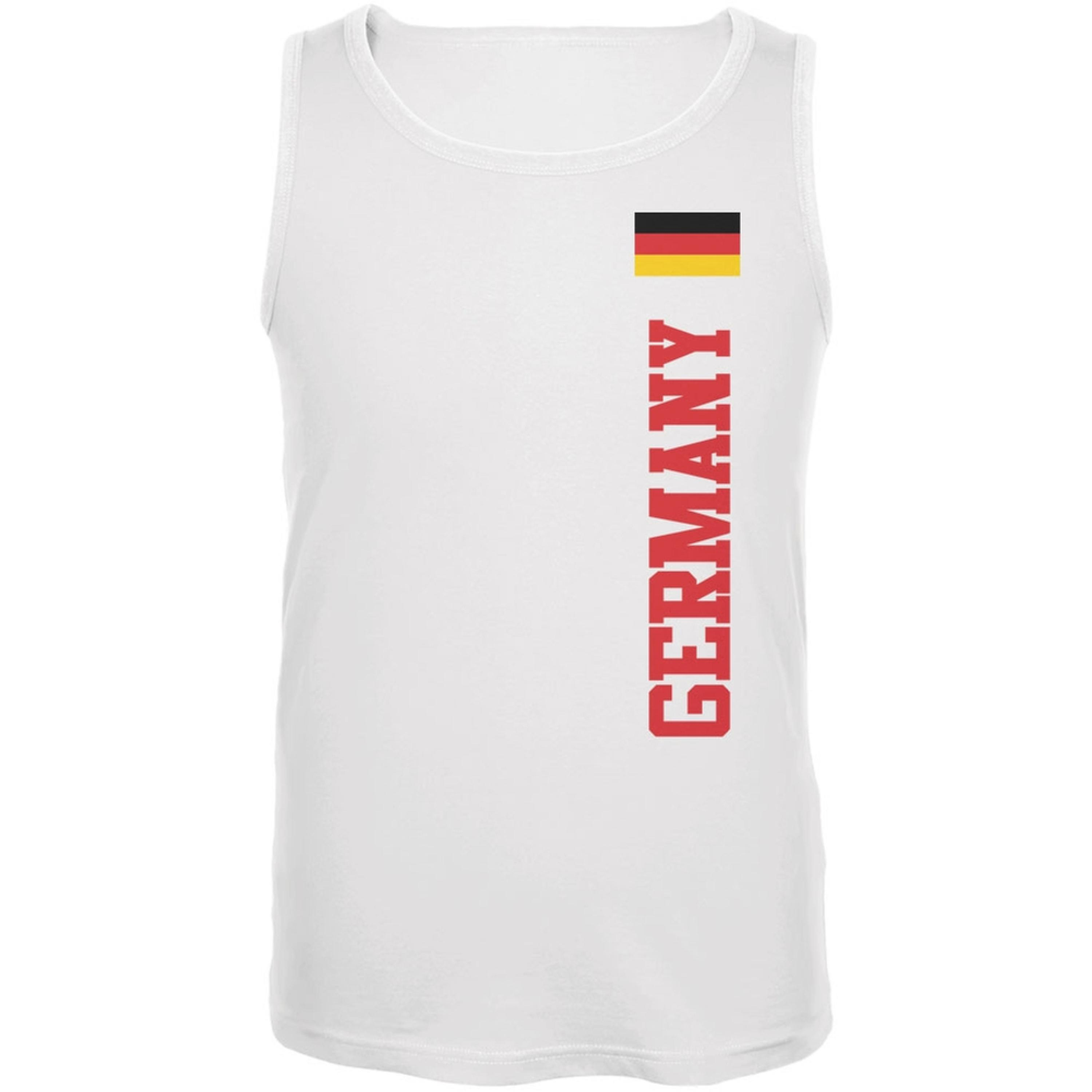 World Cup Germany White Adult Tank Top