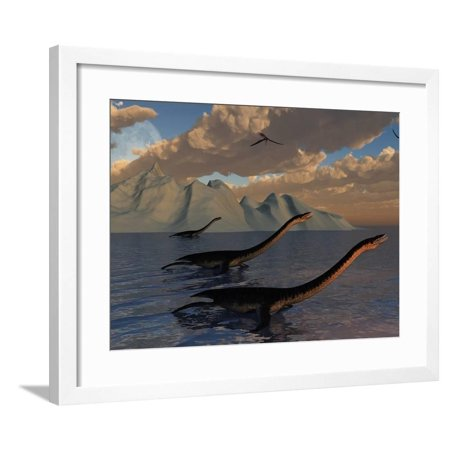 Strange Creatures That Best Resemble Prehistoric Plesiosaurs Framed Print Wall Art By Stocktrek