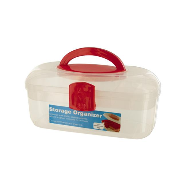 Bulk Buys OD349-18 Storage Organizer Box With Handle And Removable Tray - image 1 of 1