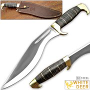 WHITE DEER D2 STEEL Extreme Duty Jungle Kukri Knife Standalone Survival Tool Machete D-2