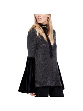 Free People Womens Bell Sleeve Tunic Sweater