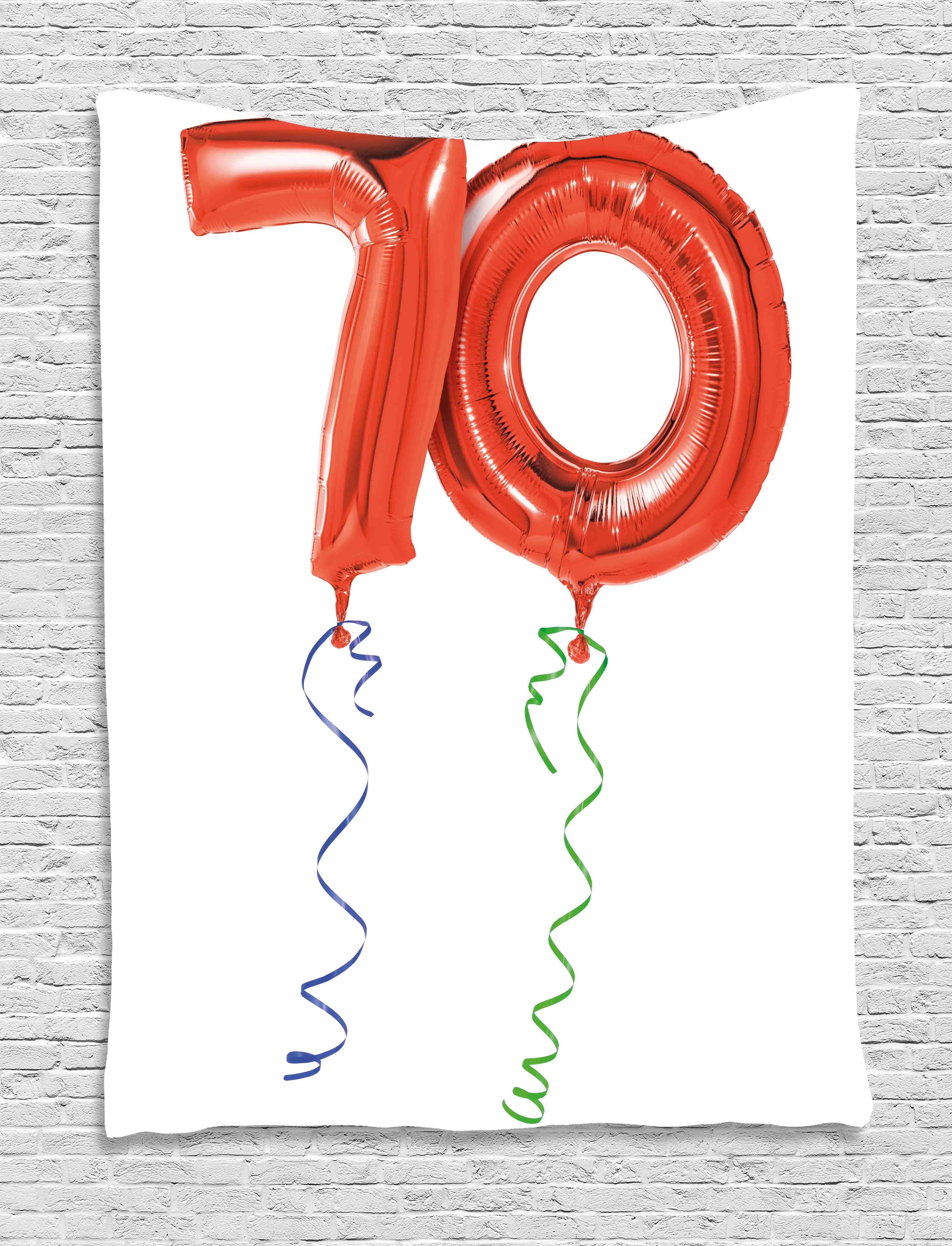 70th Birthday Decorations Tapestry Seventy Birthday Crazy Party