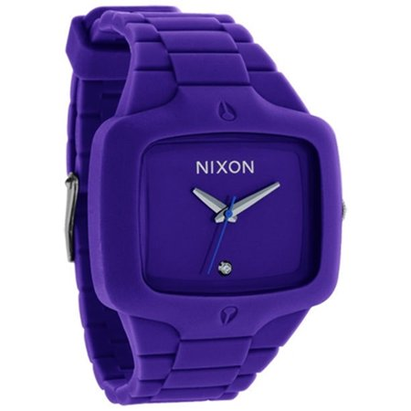Nixon Men's A139230 Purple Silicone Quartz Watch