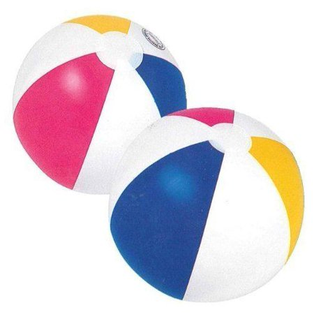 Blow Up Ball To Roll In (12pk x 20in Beach Ball Inflatable Blow Up Fun Holiday, Summer Party)