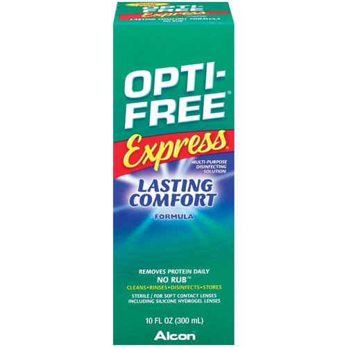ALCON OPTI-FREE EXPRESS Contact Lens Care Cleaning & Disinfecting Solution - 10 fl oz