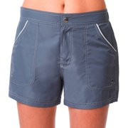 Women's Sporty Board Shorts Swimsuit Bottom With Built-In Brief