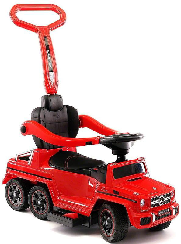 Kids Push Car Ride On Electric Powered Mercedes G63 AMG for Toddlers W  Electric Pedal, Baby Stroller, 6x6... by