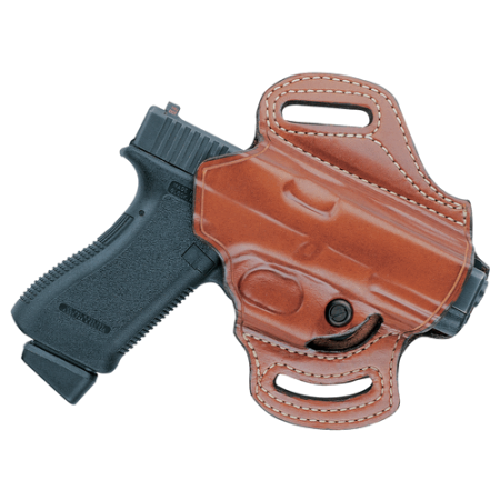 aker leather 168a flatsider xr13 open top belt slide holster for colt, beretta, glock, heckler & koch, smith & wesson, sig sauer, and springfield pistols