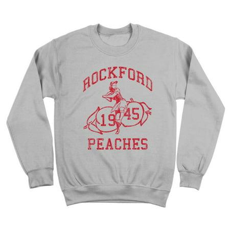 - Rockford Peaches Small Gray Crewneck Sweatshirt