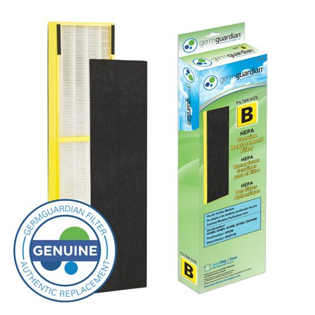 Genuine True Hepa Filter (Germ Guardian FLT4825 True HEPA GENUINE Air Purifier Replacement Filter B for GermGuardian AC4300BPTCA, AC4900CA, AC4825, AC4825DLX, AC4850PT, CDAP4500BCA, CDAP4500WCA, and More)