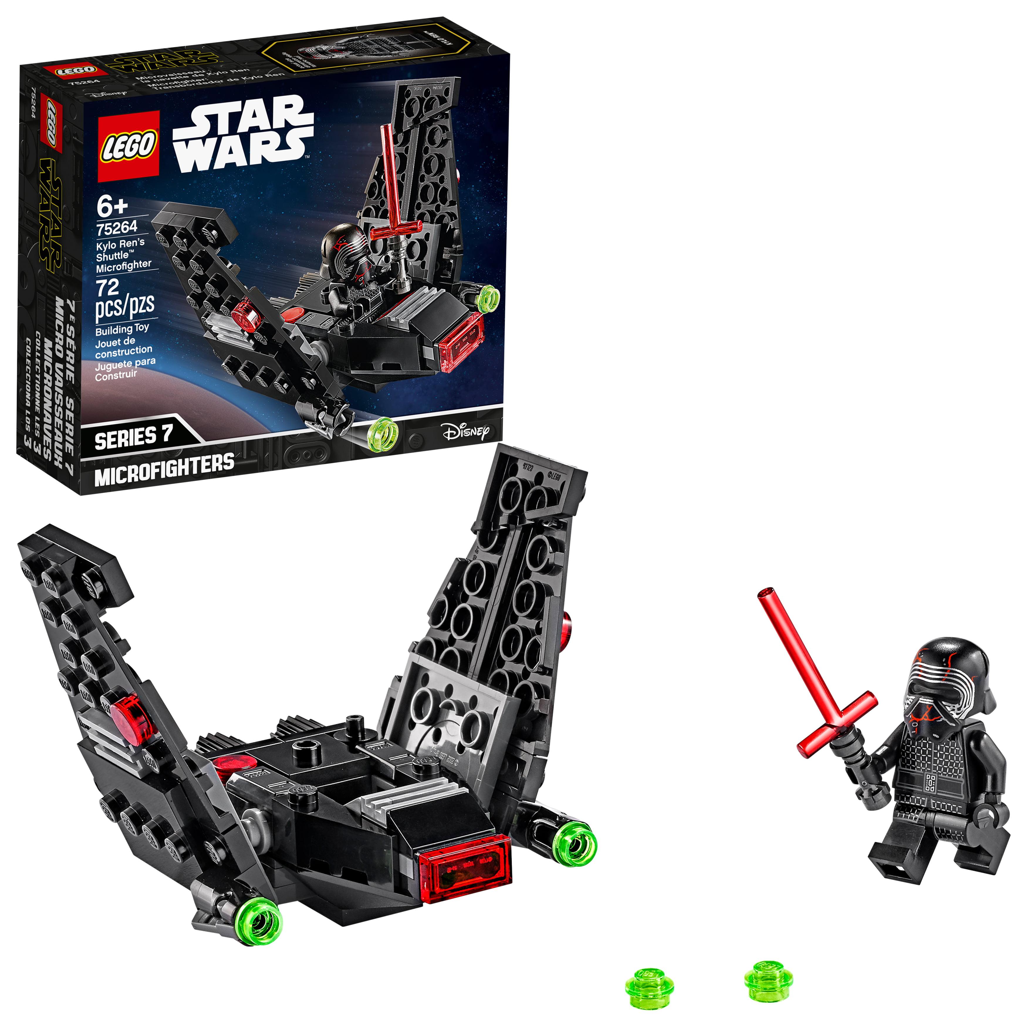 Lego Star Wars Kylo Ren S Shuttle Microfighter 75264 Upsilon Class Shuttle Building Kit 72 Pieces Walmart Com Walmart Com