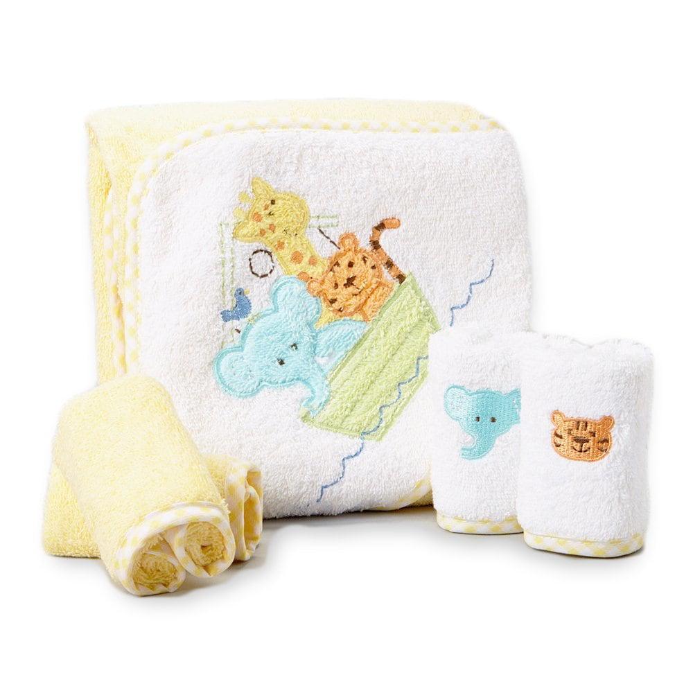 Spasilk Terry Neutral Cotton Bath Towel and Washcloth Set