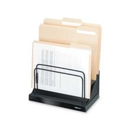 Step File- w- 6-1in. Compartments- 11-.25in.x7-.13in.x10-.50in.- Black
