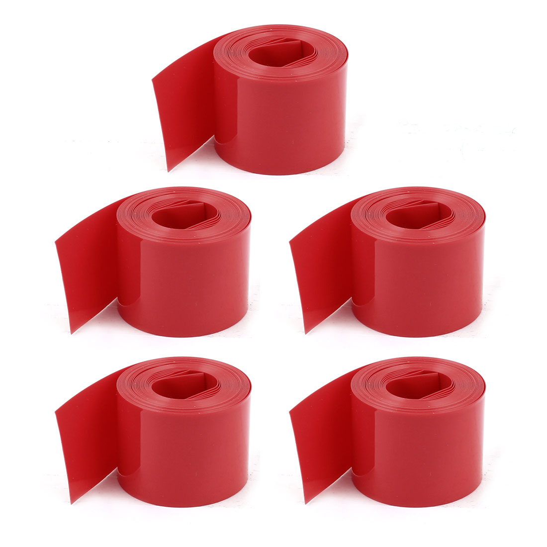 5Pcs 2m Red PVC Heat Shrink Wrap Tube Wire Width 23mm for 1xAA Battery