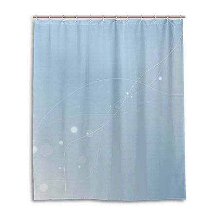 Popcreation Preview Mildew Resistant Fabric Shower Curtain 60X72 Inches