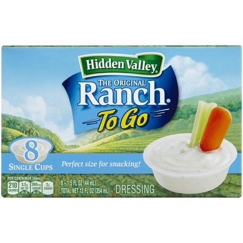 Hidden Valley The Original Ranch To Go Dressing, 1.5 fl oz, 8 count