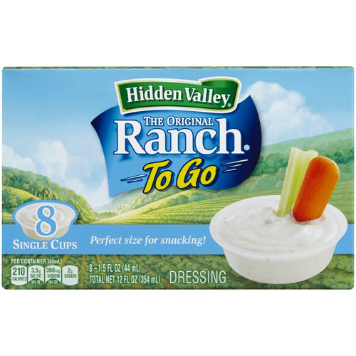 Hidden Valley The Original Ranch To Go Dressing, 1.5 fl oz, 8 count