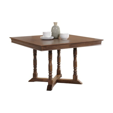 Surprising Acme Wilfried Square Dining Table In Walnut Interior Design Ideas Clesiryabchikinfo