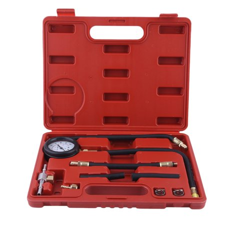 Auto Fuel Injection Pump Pressure Tester Kit Cylinder Compression Gauge Tool