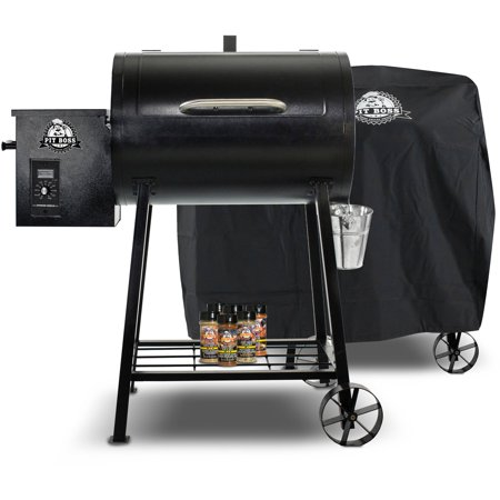 Pit boss 340 wood pellet grill with cover and spice pack for Pit boss pellet grill