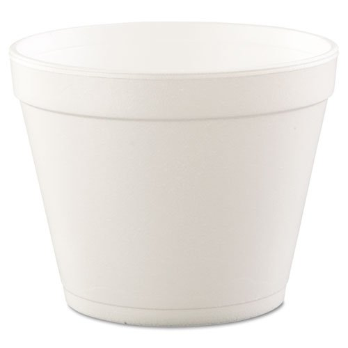 Dart Foam Large Squart Bowl Round Food Container White 24